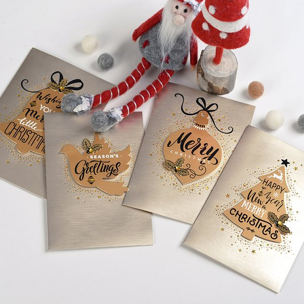 Eno Greeting business christmas cards paper 3d christmas cards handmade happy new year