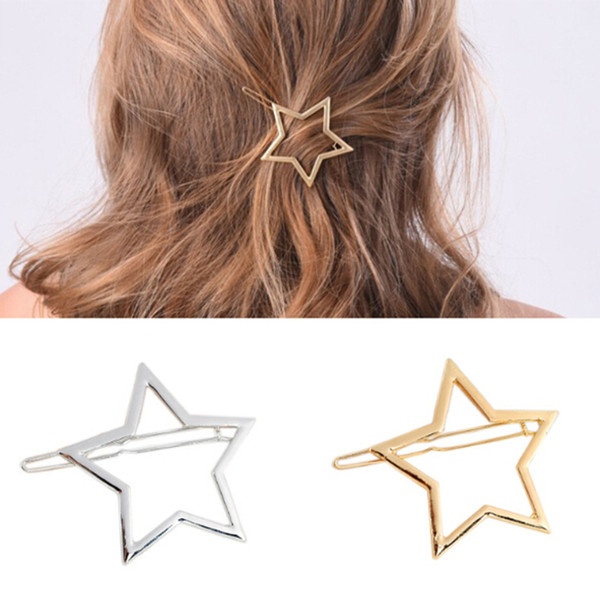 1 PC New Fashion Women Girls Hairpins Girls Star Hair Clip Delicate Hair Pin Decorations Accessories Clips