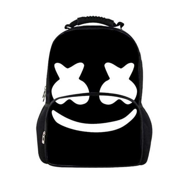 Cute Marshmello School bag Printed Casual Female Travel Backpack Women Large Teenage Girls Boys School Backpacks women backpack
