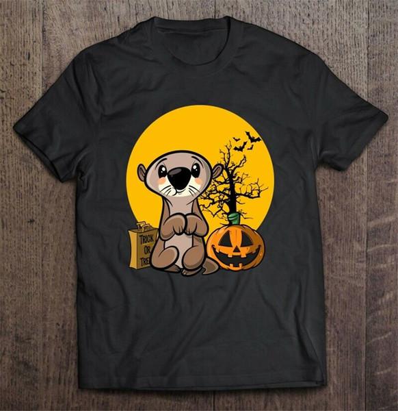 Otter Halloween Trick Or Treat Version Männer T-Shirt S-6XL Street lustige T-Shirt