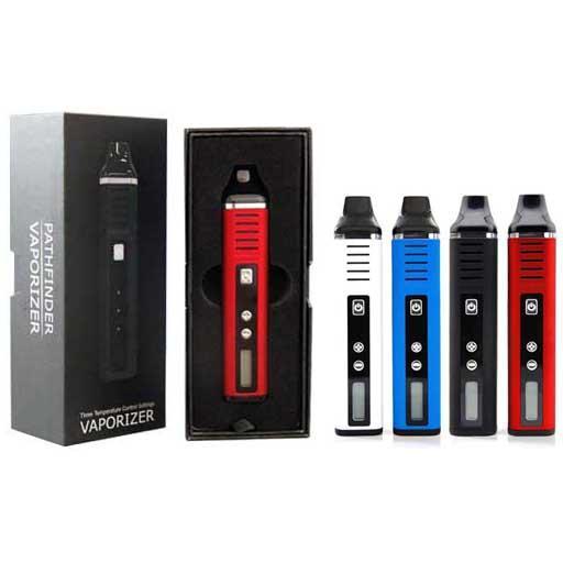 Pathfinder II Dry Herb vaporizzatore kit sigaretta Vape Pen Kit 2200mah Screen Kit LED Nero Rosso Blu Bianco