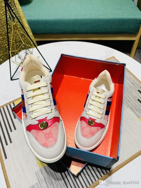2019 Новая Цепная реакция обувь Рельефные Подошва Luxury FashionДиорГуччиПовседневный Дизайнер Женская обувь Спортивные кроссовки