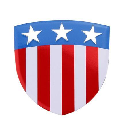 10 pcs 35x34mm liga de Alumínio Etiqueta Do Carro Etiqueta Da Motocicleta Emblema Emblema EUA bandeira do estilo do carro apto para Volvo Peugeot Auxhall alfa romeo