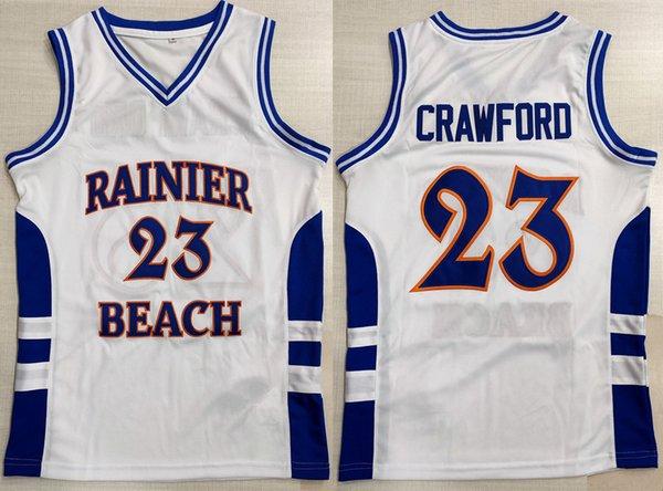 best selling Rainier Beach High School Jamal Crawford #23 Retro Basketball Jersey Men's Stitched Custom Number Name Jerseys