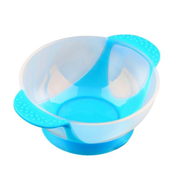 Baby Kids Suction Cup Bowl Slip-resistant Tableware Temperature Sensing Spoon Set