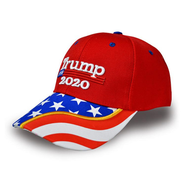 NUEVO Donald Trump 2020 Cap Camuflaje Bandera de EE. UU. Gorras de béisbol Mantenga a Estados Unidos de nuevo genial Snapback Presidente Sombrero Bordado al por mayor