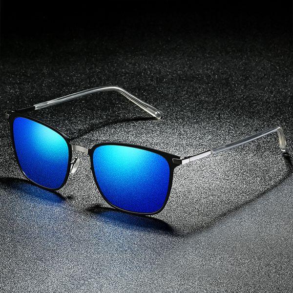 Klasik Metail Çerçeve Yüksek Kalite Erkekler Güneş Gözlüğü Polarize Güneş Gözlüğü Marka Tasarım Erkek HD Görüş Sürüş Güneş Gözlükleri
