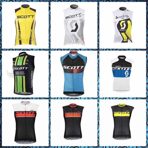 2019 New SCOTT squadra Cycling Sleeveless jersey Vest vendita calda Quick dry MTB Bike Sport all'aria aperta consegna gratuita U51013