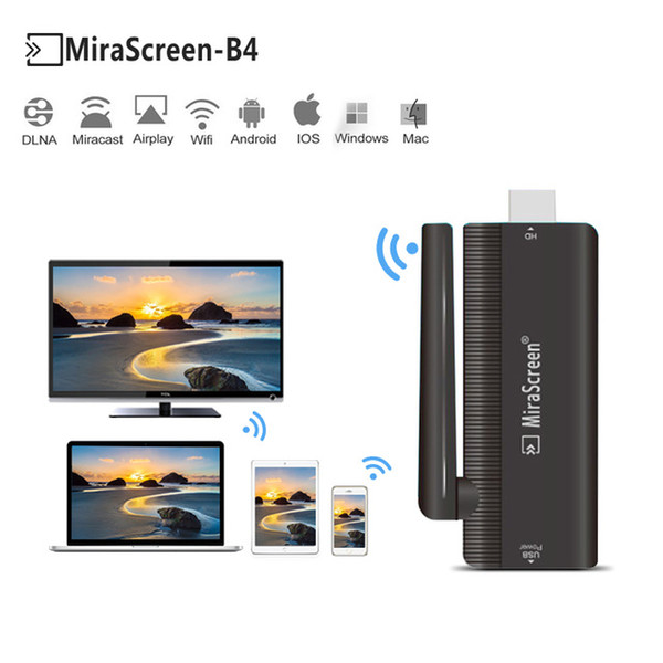 Mirascreen Video Wireless WiFi Display TV Dongle Receiver Media Airplay Miracast