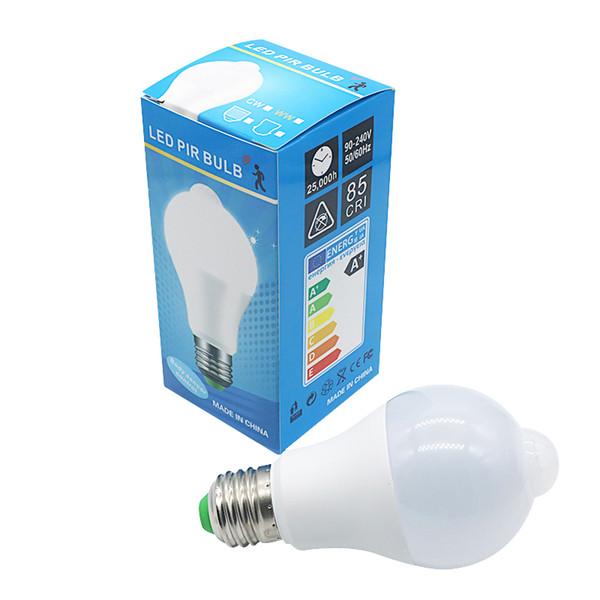 Edison2011 10W Lighting Bulb B22 E27 PIR Motion Sensor Aluminum Design LED Night Light 10W 85-265V Lamp For Balcony Corridor Path Garden