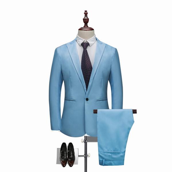 NIBESSER Men Classic 2 Pieces Blazer& Pants Suit Set Formal Business Blazers Sets Slim Plus Size 3XL Sets For Wedding Party Set