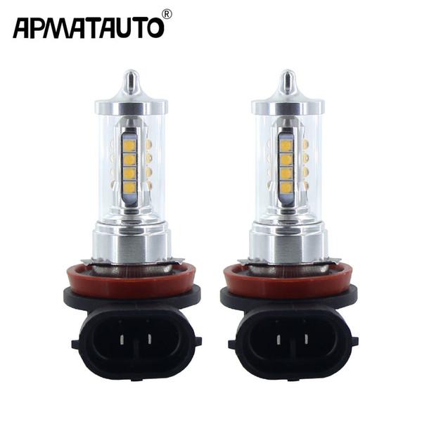 2x H8 H9 H11 H16 (JP) 9005 9006 HB4 Feu antibrouillard LED DRL Feu de jour + décodeurs Canbus pour VW