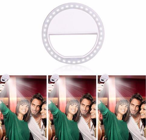 Luce portatile dell'anello di Selfie del LED per il iPhone per Xiaomi per la copertura della cassa della cassa del telefono cellulare della macchina fotografica del flash di Samsung Huawei che migliora