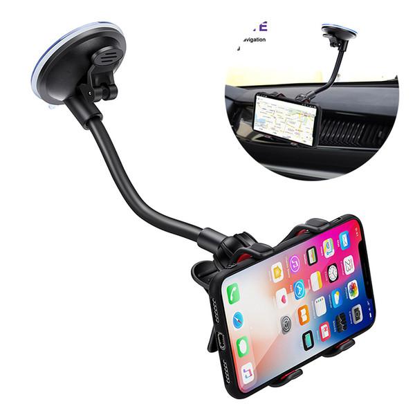 Car Holder Telefono 360 gradi Phone Holder regolabile auto titolari GPS Ventosa per iPhone 8 X XS MAX Samsung S10 S9 S8