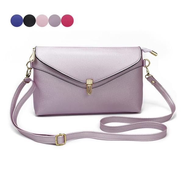 Fashion Women Mini Shoulder Bag Leather Solid Color Lock Catch Zipped Purse Ladies Girls Crossbody Messenger Bags Fab Women Bag