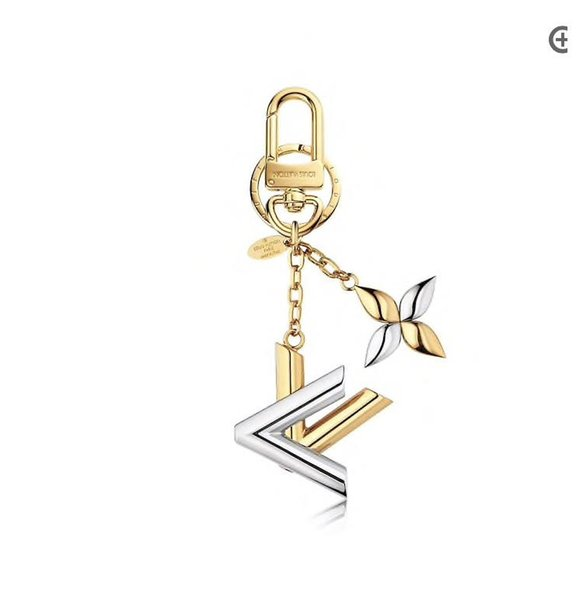 Designer bag keychain gold and silver brass finish lively and vivid logo stylish design elements 2019 luxury accessories
