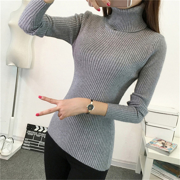 Thick Turtleneck Warm Women Sweater Autumn Winter Knitted Femme Pull High Elasticity Soft Female Casual Pullovers Jumper