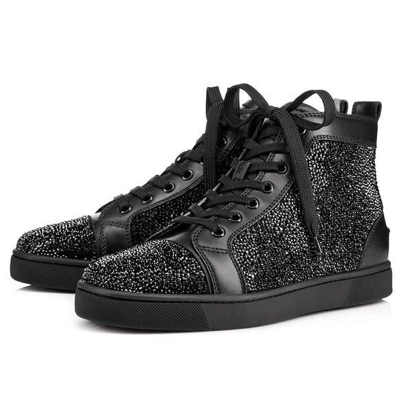 2019 ACE designer de mode de luxe clouté crampons Flats chaussures bas rouge chaussures pour hommes et femmes Party Lovers en cuir véritable baskets w036