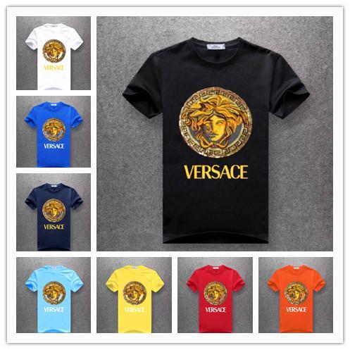 Verão Top Quality Mens t-shirt mulheres letras Medusa camisetas polo homens Roupa do skate top hip hopversace tee Tamanho M-4XL