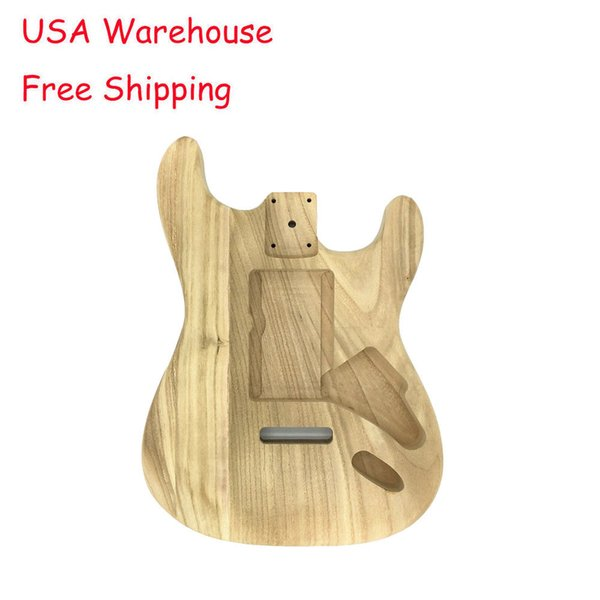 DIY Guitar Body Wood Unfinished Parts For Electric Style Guitar Parts USA Ship Fast Delivery