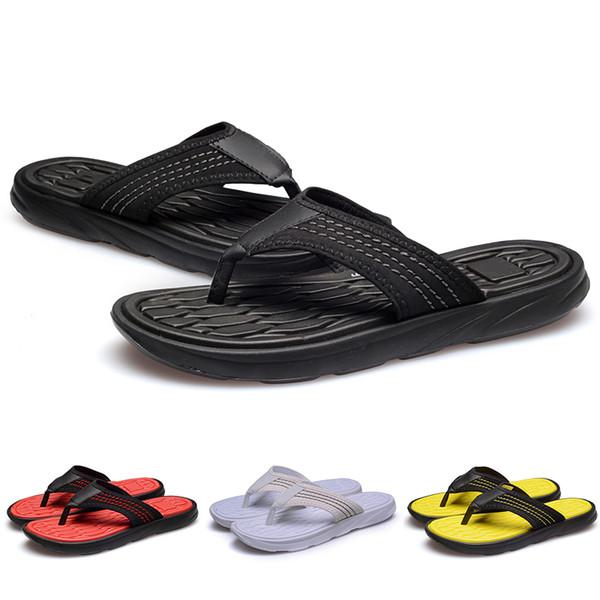 Cheap Flip Flops Designer slipper Gear bottoms Hotel Beach mens striped sandals causal Non-slip summer men Scuffs huaraches slipp 40-44