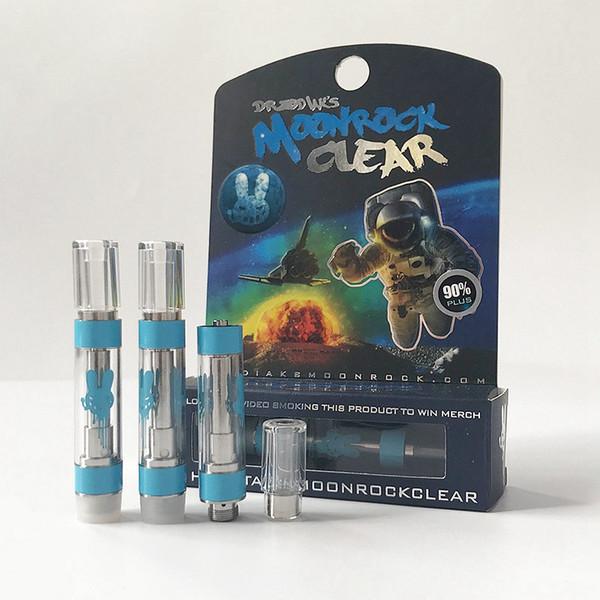 Оптовые Новые 7 Ароматов Moonrock Clear Vape Картриджи 1 мл Керамическая пустая Vape Pen E сигареты Для 510 Нить Аккумуляторы Густой Масло Распылители