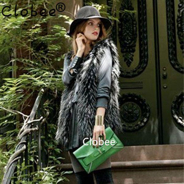 Lady Faux Fur Vest Sleeveless Coat manteau femme hiver Winter Fur Gilet Fake gilet Women Winter Jacket Casacos Femininos