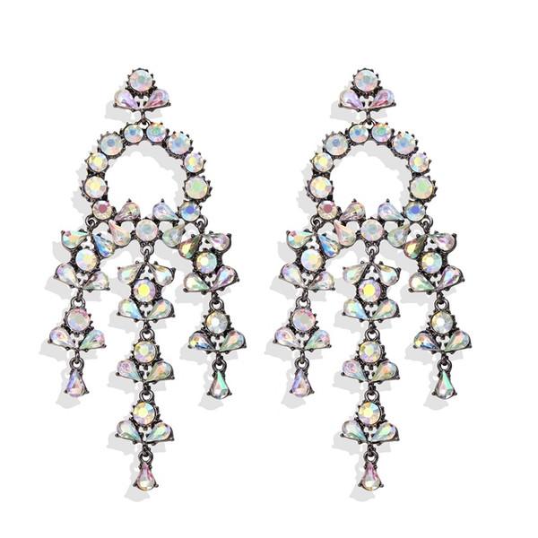 Accesorios de boda joyería del diamante pendientes del encanto maduro exagerado en un diseño único Uso de Sesión compromisos matrimoniales gran ceremonia