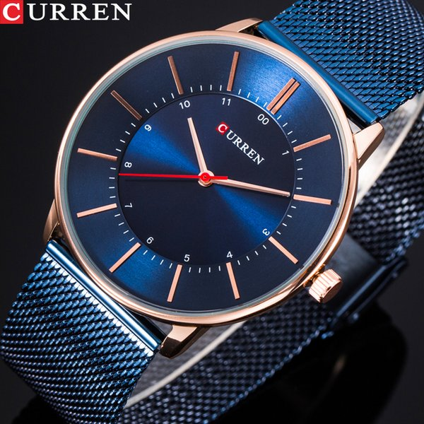 curren new fashion simple style business men watches ultra-thin quartz male wristwatches waterproof clock relogio masculino, Slivery;brown