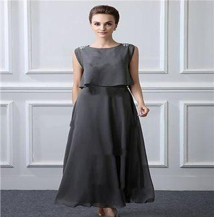 2019 Elegant Mother Of The Bride Dresses Sleeveless Plus Size Formal Gowns  Evening Wear Ankle Length Wedding Guest Dress Mother Of The Bride Dresses  ...