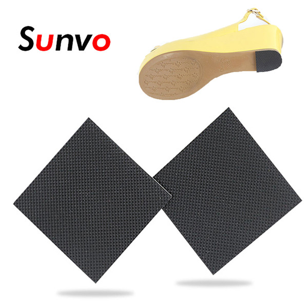 Sunvo 2PCS Anti-Slip Shoes Sole Protector Pad for Women High Heels Sandal Self-Adhesive Ground Grip Shoe Bottoms Outsole Sticker