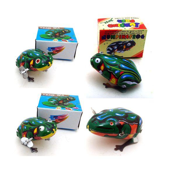 Yaratıcı Karikatür, Toplama, Kid' Parti Doğum Günü Hediyeler Ev Dekorasyon Oyuncak, Clockwork Teneke Frog, Nostaljik Süsleme,-upTin Sarma