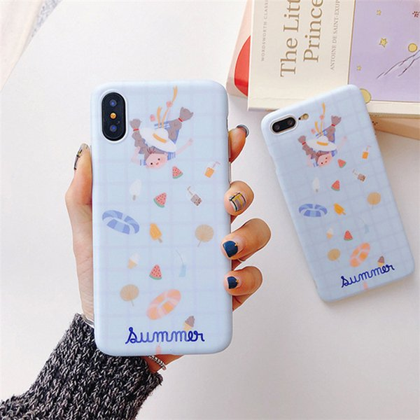 The Summer Streamlined Female Style Soft Shell Protection Phone Case For iPhone X XS XSMAX,Cover For iPhone 6 7 8/plus