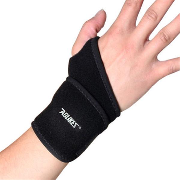 Nero regolabile Wristband acciaio Wrist Brace supporto per il polso Stecca Fratture del tunnel carpale Sport Distorsione Braccialetti