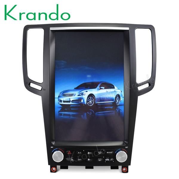 "Krando Android 7.1 12.1"" Tesla Vertical car radio multimedia player for Infiniti G25 G35 G37 gps multimedia system car dvd"
