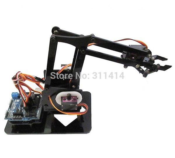 2019 Diy Acrylic Robot Arm Robot Claw Kit 4dof Model Toys Mechanical Grab Manipulator Diy Learning Kit For Arduino From Beimei20170703 27 12