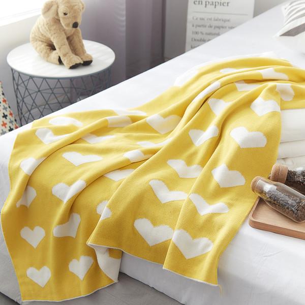 Bebê cobertor de malha 90 * 110 centímetros de algodão do bebê Deken conjunto de cama jacquard inverno recém-nascido creche berçário SH190917 panos das crianças