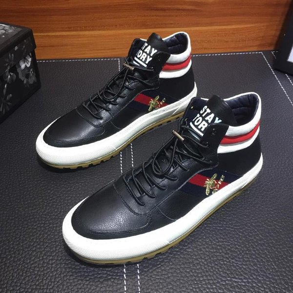 High Top Sneaker Scarpe da uomo Casual Shoes with Gvccl Origin Box Lace-Up Design Ankle Boots Man High Top Flat Shoes Lace-Up Waterproof