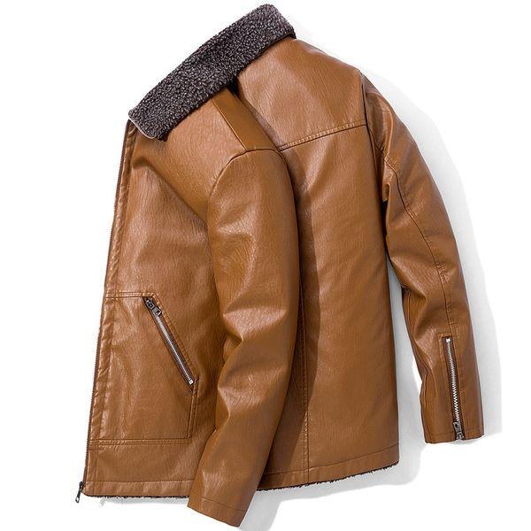 Erkek Sonbahar Kış Kürk Mantolar Deri Ceketler Faux Deri Blazers Rüzgarlık Rahat Palto Tops Artı Boyutu 5XL 6XL 7XL 8XL Kalın Sıcak