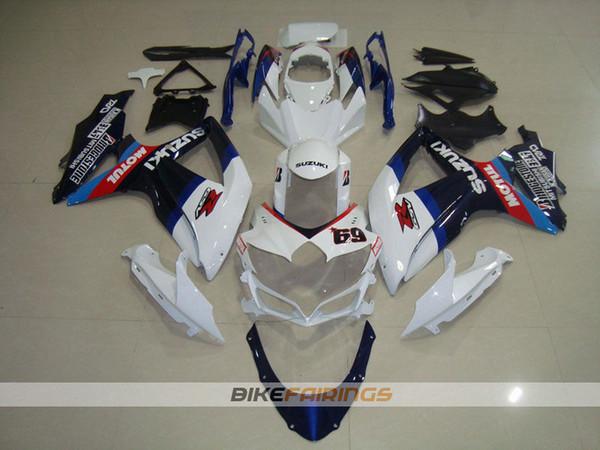 Nuevo ABS Kit completo de carenados adecuado para SUZUKI GSXR600 GSXR750 08 09 10 GSX R600 R750 K8 GSX-R600 GSXR 600 750 2008 2009 2010 Número 69