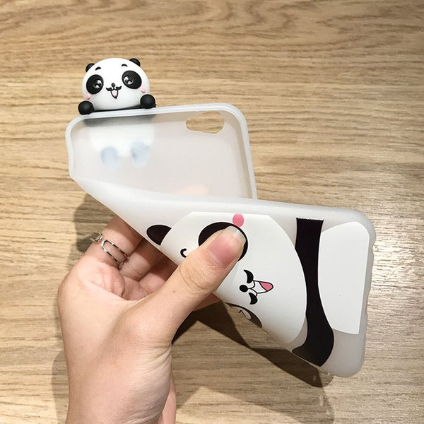 Lovely 3D Cartoon Panda Case For iPhone 7 Plus Cute Animal Pattern Phone Cases Soft TPU Back Cover For iPhone 8 7 6 6s Plus