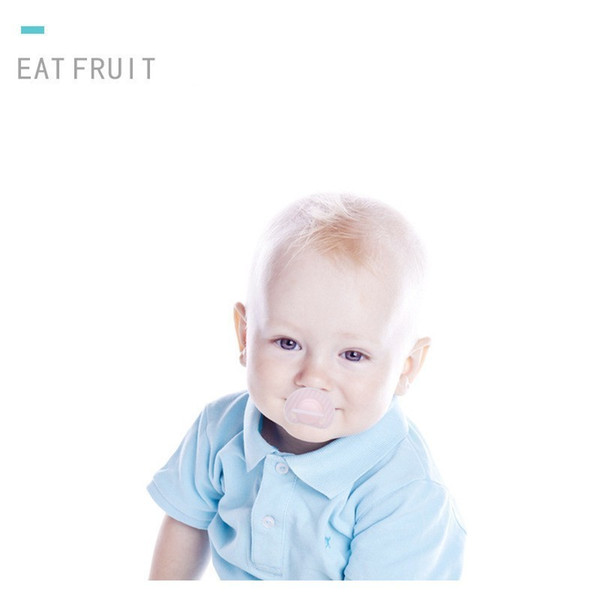 Baby Appease Nipple Silica Gel Flat Head Thumb Type Play Mouth Newborn Comfort Nipple Bring Dustproof Cover