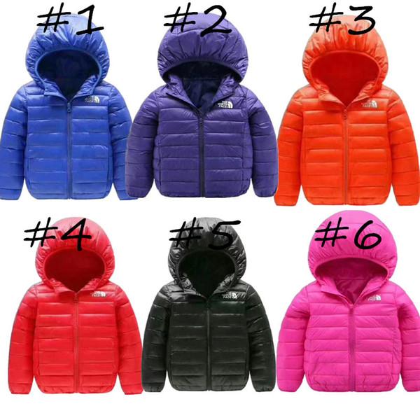 어린이 주니어 NF 겨울 다운 재킷 아이 빛 오리 다운 코트 북쪽 따뜻한 후드 코트 소년 소녀 브랜드 얼굴 디자이너 복장 천 C8803