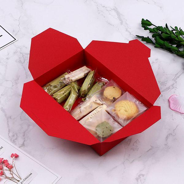 Compre Forma De Sobre Caja De Cartón Roja Envoltura De Regalos Caja De Papel Galletas Cajas De Pastel A 071 Del Homedesignfactory Dhgatecom