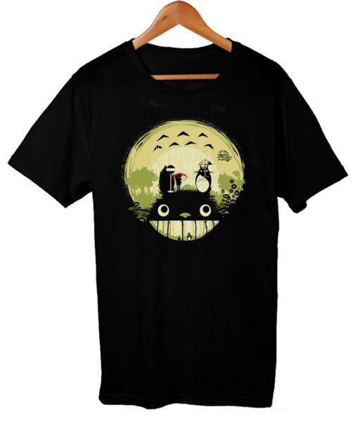 Sonho floresta Totoro T-shirt Estúdio Ghibli Inspirado Senhoras Das Senhoras Unisex T-shirt Camisas de T Personalizado T Camisa de Design Engraçado Camisetas