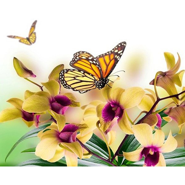 5D DIY полный алмазов изобразительного искусства и ремесел бабочки картины круглой или квадратной формы сверла бриллиантового креста вышивки стежком комплекты украшения дома GIF