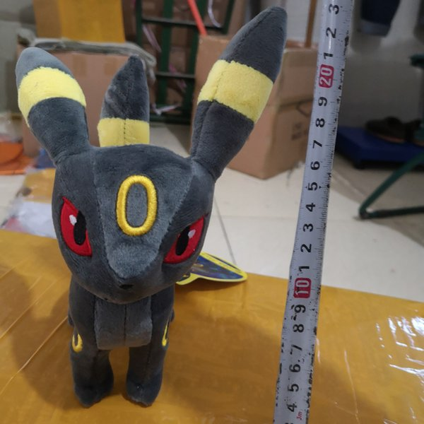 top popular 2019 High Quality Standing Umbreon Stuffed Plush Doll Soft Baby Toy 18cm Umbreon Christmas Gift For Children Hot Sale Free Shipping 2019