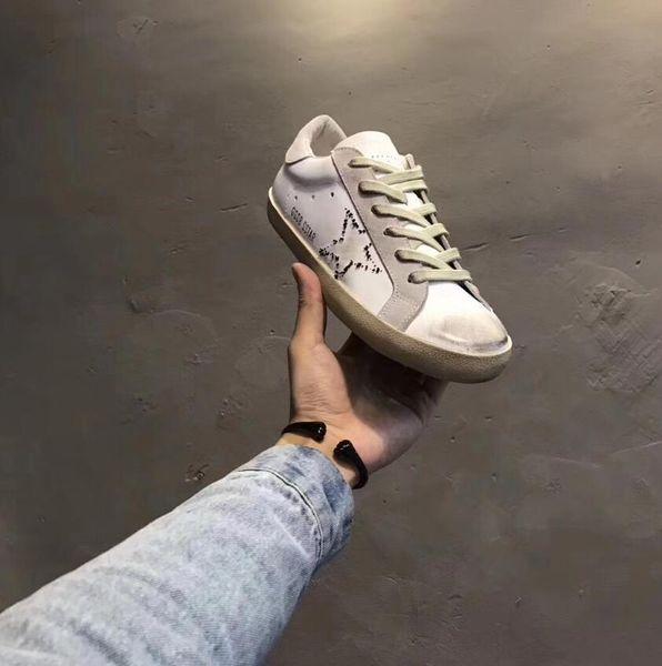 Luxuries Designers Comfort Original Golden Gooses Low Shoes SUPER STAR In Pelle E Stella In Pelle Camoscio Men Women Casual Shoes