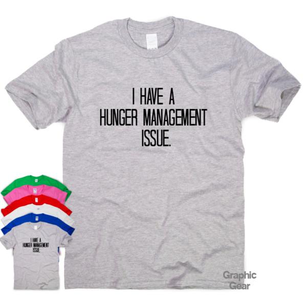 Управление голодом вопрос смешные футболки юмор мужской подарок женские саркастические sloganFunny бесплатная доставка мужская повседневная топ