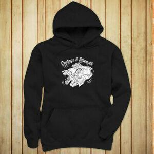 COURAGE AND BrandRENGTH LION ANIMAL VINTAGE FIERCE Womens BlaBrand Hoodie